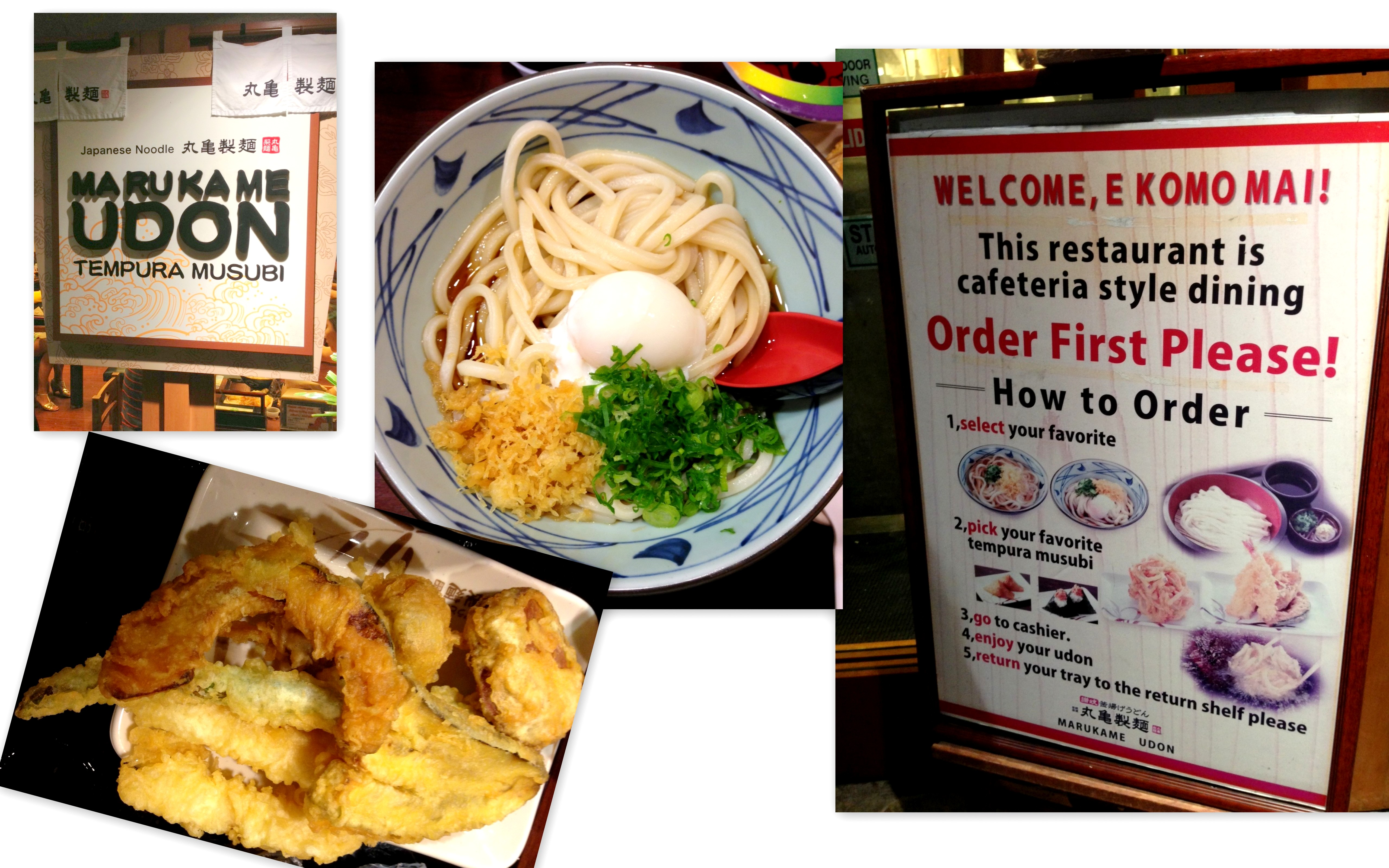 Marukame Udon: For satisfying Udon and Tempura cravings